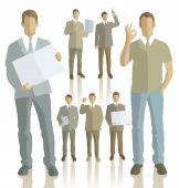 Silhouettes of business people — Stock Vector