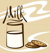 Milk with calligraphic inscription — Stock Vector
