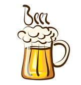 Beer with calligraphic inscription — Stock Vector