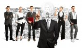 Business Team Idea concept — Stock Photo
