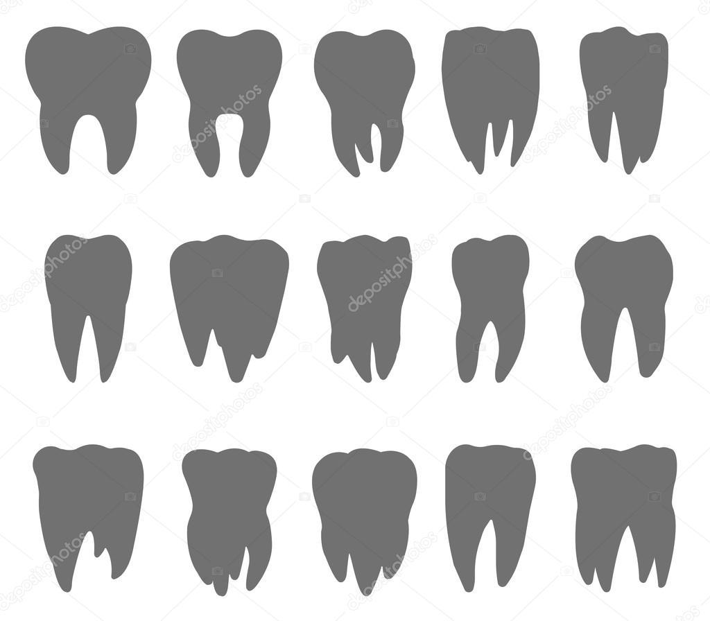 Teeth silhouette - Free shapes icons