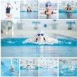 Woman swimmer in sport swimming pool — Stock Photo #52924531