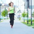 Woman jogging in city street park. — Stock Photo #52936815