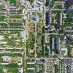 widok miasta z lotu ptaka — Zdjęcie stockowe #52938983