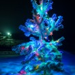 Shining lights of Christmas tree — Stok fotoğraf #52939157