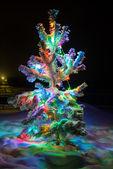 Shining lights of Christmas tree — Stock Photo