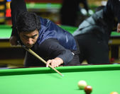 Bangkok, Thailand - SEP 3:Mohammad Asif of Pakistan participates in a Sangsom Six-red World Championship 2014 at Montien Riverside Hotel on September 3, 2014 in Bangkok, Thailand. — Stock Photo