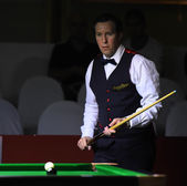 Bangkok, Thailand - SEP 5:Dominic Dale of Wales in action during Sangsom Six-red World Championship 2014 at Montien Riverside Hotel on September 5, 2014 in Bangkok, Thailand. — Stock Photo