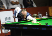 Bangkok, Thailand - SEP 5:John Higgins of Scotland in action during Sangsom Six-red World Championship 2014 at Montien Riverside Hotel on September 5, 2014 in Bangkok, Thailand. — ストック写真