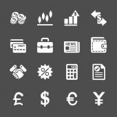 Finance and money icon set, vector eps10 — Stock Vector