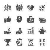 Business management and human resources icon set, vector eps10 — Stock Vector