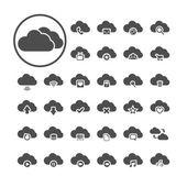 набор символа облачных вычислений, вектор eps10 — Cтоковый вектор