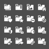 Folder icon set 2, vector eps10 — Stock Vector