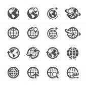 Global communication icon set, vector eps10 — Stock Vector