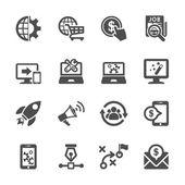 Seo and marketing icon set, vector eps10 — Stock Vector