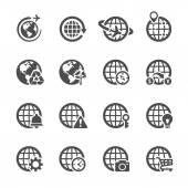 Global communication icon set 2, vector eps10 — Stock Vector