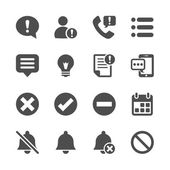 Notification and information icon set, vector eps10 — Stockvektor