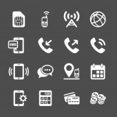 Telecommunication account managment icon set, vector eps10 — Cтоковый вектор