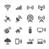 Wireless technology icon set, vector eps10 — Stock Vector