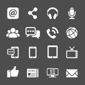 Internet communication icon set, vector eps10 — Stock Vector