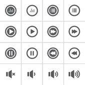 Audio and music bold icon set, flat design icon — Stock Vector