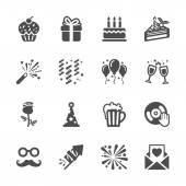 Celebration and party icon set 3, vector eps10 — Stock Vector
