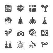 New year party icon set 2, vector eps10 — Stockvektor
