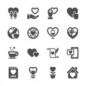 Love and valentine icon set 3, vector eps10 — Stock Vector