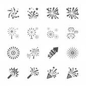 Firework icon set 8, vector eps10 — Stock Vector