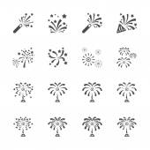 Firework icon set 7, vector eps10 — Stock Vector