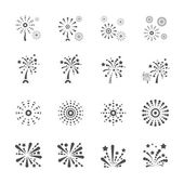 Firework icon set 6, vector eps10 — Stock Vector