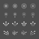 Firework icon set 2, vector eps10 — Stock Vector
