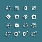 Flat design setting icon set, vector eps10 — Stock Vector