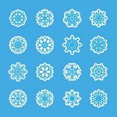 Snowflake icon set 7, vector eps10 — Vecteur