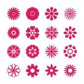 Flower icon set, vector eps10 — Stock Vector