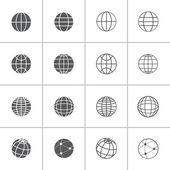 Globe icon set, vector eps10 — Stock Vector