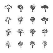 Tree icon set, vector eps10 — Stock Vector