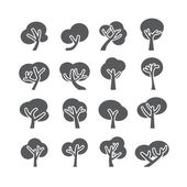 Tree icon set, vector eps10 — Stock Vector