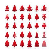 Christmas tree icon set, vector eps10 — Stock Vector