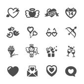 Love and valentine icon set 6, vector eps10 — Stock Vector