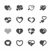 Heart and valentine day icon set 2, vector eps10 — Stock Vector