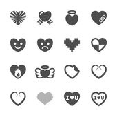 Heart and valentine day icon set 3, vector eps10 — Stock Vector
