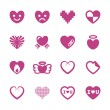 Heart and valentine day icon set 3, vector eps10 — Vettoriale Stock  #65596967