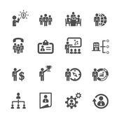 Zakelijke en human resources management icon set 2, vector eps10 — Stockvector