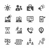 Business and management icon set 8, vector eps10 — Stock Vector