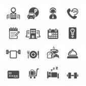 Hotel service icon set 3, vector eps10 — Stock Vector