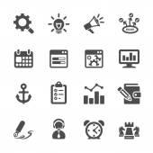 Seo and internet marketing icon set 2, vector eps10 — Stock Vector