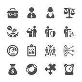 Business icon set 2, vector eps10 — Stock Vector