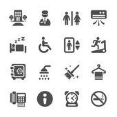 Hotel service icon set 4, vector eps10 — Stock Vector