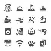 Hotel service icon set 5, vector eps10 — Stock Vector